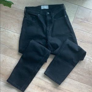 EVERLANE BLACK HIGH RISE STRAIGHT S 25 ankle jeans